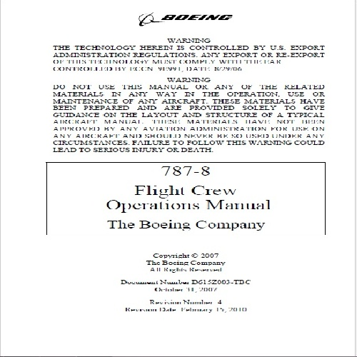 Flight Crew Operations Manual Boeing 737 ngx